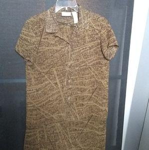 2 piece matching top with an A-line skirt.
